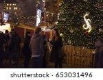 prague  cz   december 15  2016  ... | Shutterstock . vector #653031496