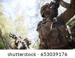group of intelligence on war | Shutterstock . vector #653039176