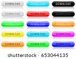 download glass buttons. oval... | Shutterstock .eps vector #653044135