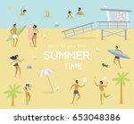 summertime vector poster.... | Shutterstock .eps vector #653048386