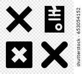 cancel icons set. set of 4... | Shutterstock .eps vector #653054152