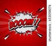 comic speech bubble cartoon... | Shutterstock .eps vector #653058076