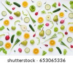 Pattern Of Vegetables And...