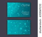 vector vintage visiting card... | Shutterstock .eps vector #653069152
