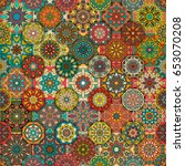 colorful vintage seamless...   Shutterstock .eps vector #653070208