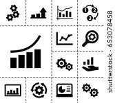 progress icon. set of 13 filled ... | Shutterstock .eps vector #653078458