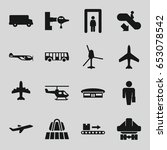 passenger icons set. set of 16... | Shutterstock .eps vector #653078542