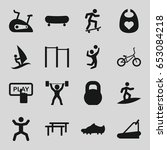 active icons set. set of 16... | Shutterstock .eps vector #653084218
