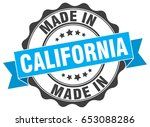 made in california round seal | Shutterstock .eps vector #653088286