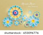 ramadan kareem greeting card... | Shutterstock .eps vector #653096776