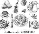 vector illustration sketch  ... | Shutterstock .eps vector #653100082