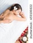 asian woman in wellness beauty... | Shutterstock . vector #653100322