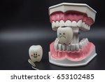 model cute toys teeth in... | Shutterstock . vector #653102485