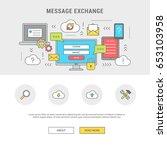 conceptual horizontal banner... | Shutterstock .eps vector #653103958
