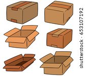 vector set of box