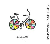bicycle illustration with... | Shutterstock .eps vector #653110312
