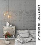 mock up modern interior... | Shutterstock . vector #653112595