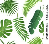 tropical trendy pattern with... | Shutterstock .eps vector #653112832