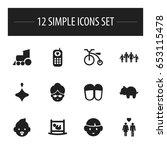 set of 12 editable kin icons....