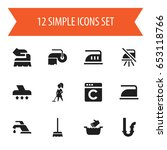 set of 12 editable cleanup...