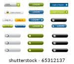 login buttons | Shutterstock .eps vector #65312137