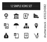 set of 12 editable banking...
