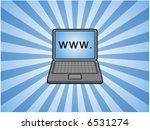 laptop computer illustration | Shutterstock .eps vector #6531274
