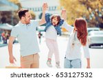 portrait of happy family having ... | Shutterstock . vector #653127532