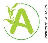 letter a logo. creative concept ... | Shutterstock .eps vector #653128096