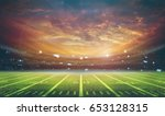 american football stadium 3d... | Shutterstock . vector #653128315