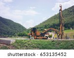 ground water hole drilling... | Shutterstock . vector #653135452