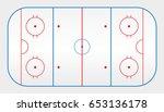 Vector Of Ice Hockey Rink
