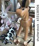 wood horse toy | Shutterstock . vector #653138506