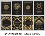 vector templates for a4 with... | Shutterstock .eps vector #653143402