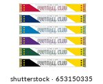 soccer football team scarf   ... | Shutterstock .eps vector #653150335
