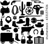 vector cowboy pictogram   Shutterstock .eps vector #653157436