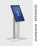 promotional interactive... | Shutterstock .eps vector #653164222