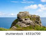 Sea Shore Rugged Rock Landscap...
