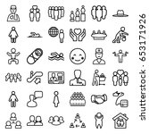 people icons set. set of 36... | Shutterstock .eps vector #653171926