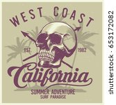 vintage surfing graphics and... | Shutterstock .eps vector #653172082