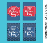 happy fathers day. greeting... | Shutterstock .eps vector #653179426