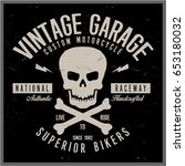 vintage biker graphics and... | Shutterstock .eps vector #653180032