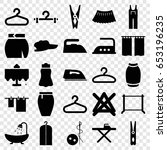 cloth icons set. set of 25... | Shutterstock .eps vector #653196235