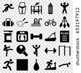 fitness icons set. set of 25... | Shutterstock .eps vector #653197912