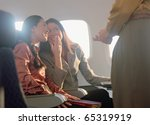 young women giggling about... | Shutterstock . vector #65319919
