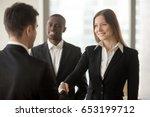 beautiful smiling businesswoman ...   Shutterstock . vector #653199712