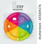 infographic templates for... | Shutterstock .eps vector #653204176