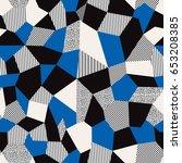 vector abstract seamless... | Shutterstock .eps vector #653208385