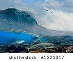 Surfing Ocean Wave Swirl White...