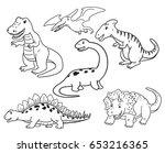 Dinosaur Cartoon Vector Drawn...